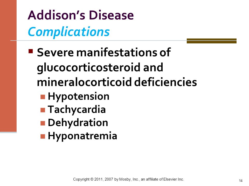 Addison's Disease Complications