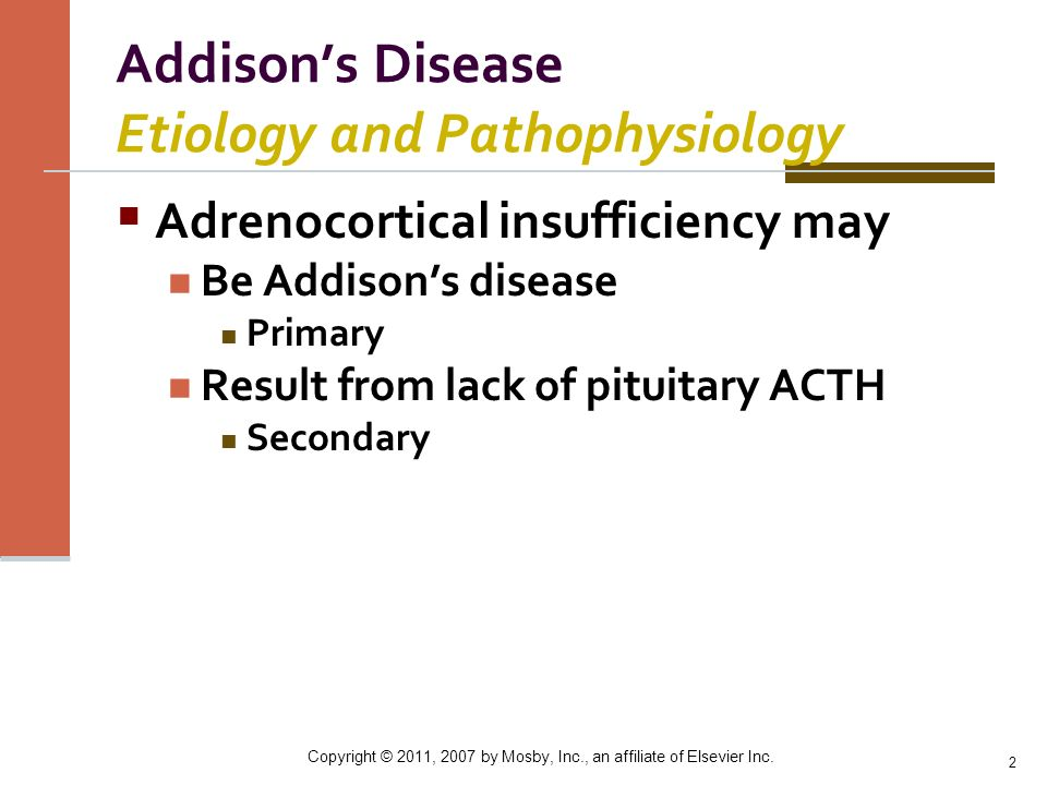 Addison's Disease Etiology and Pathophysiology