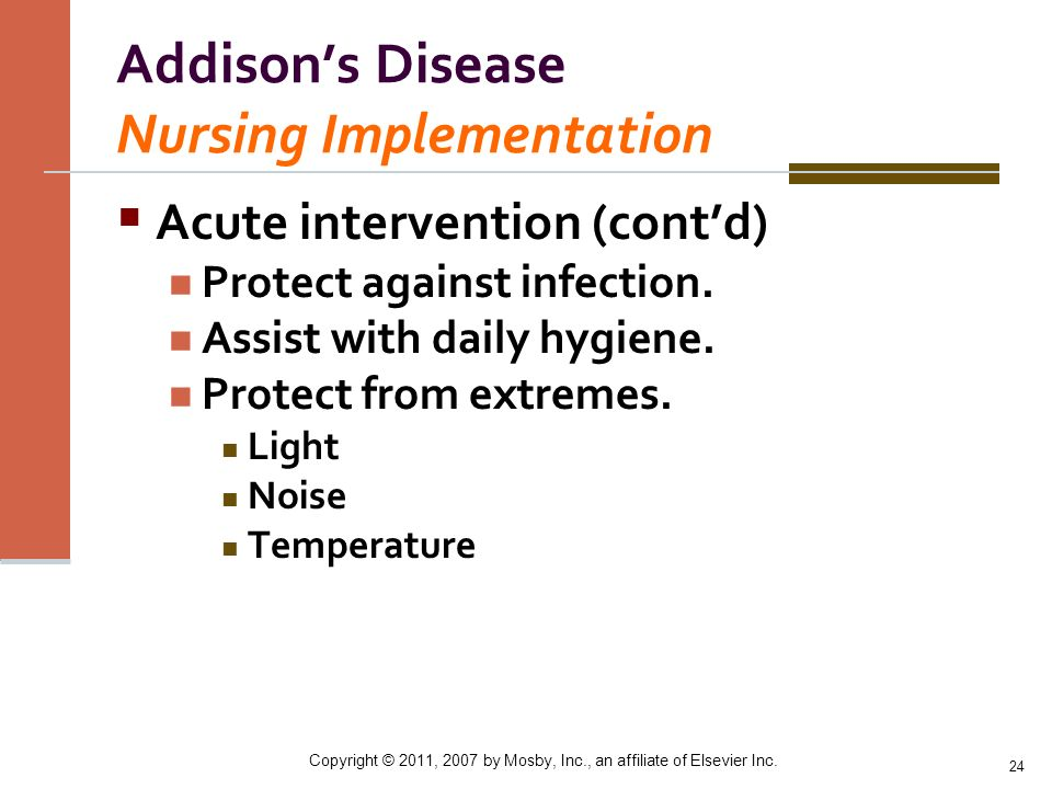 Addison's Disease Nursing Implementation