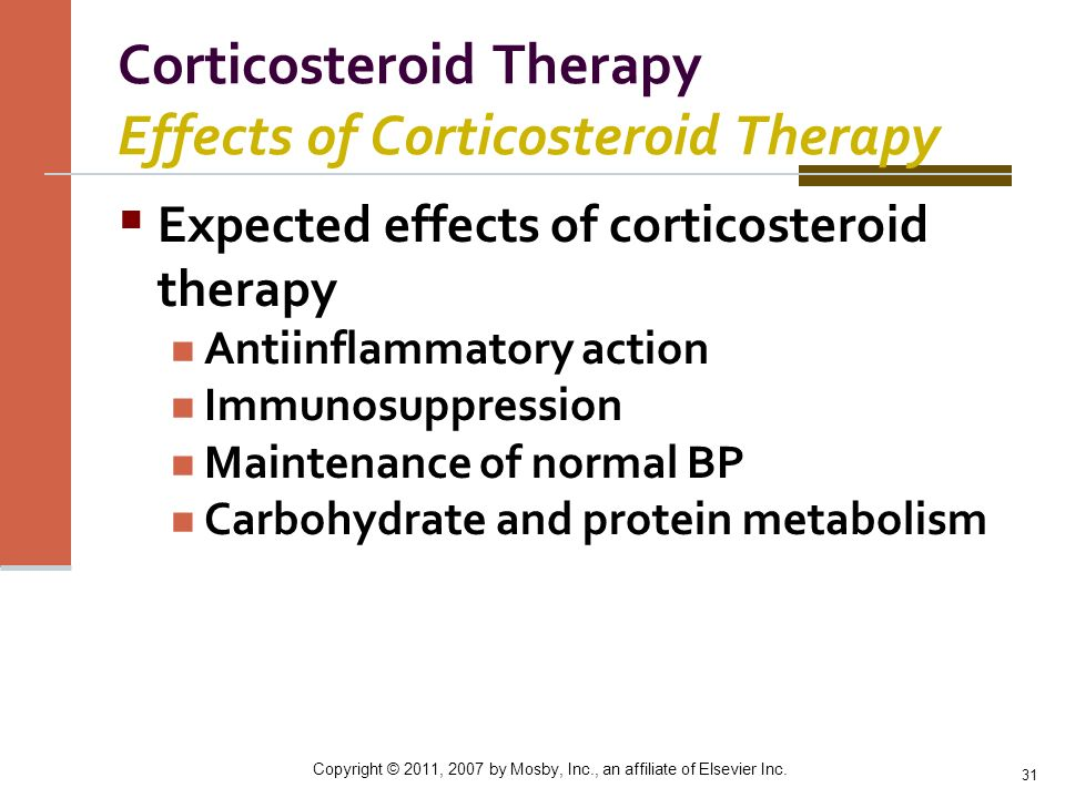 Corticosteroid Therapy Effects of Corticosteroid Therapy