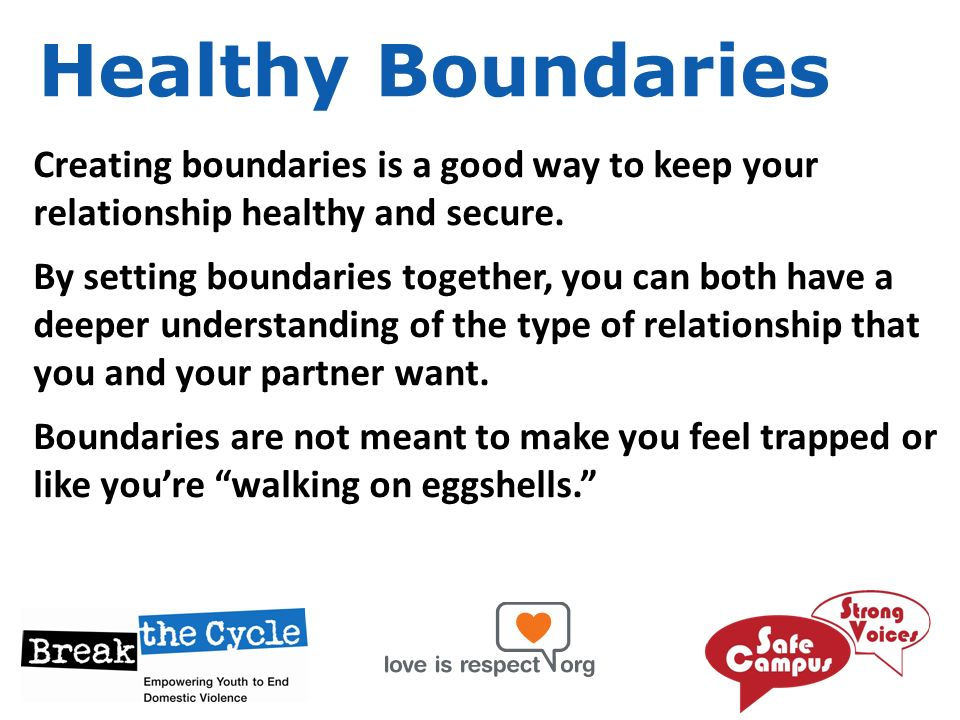 setting boundaries in a new relationship