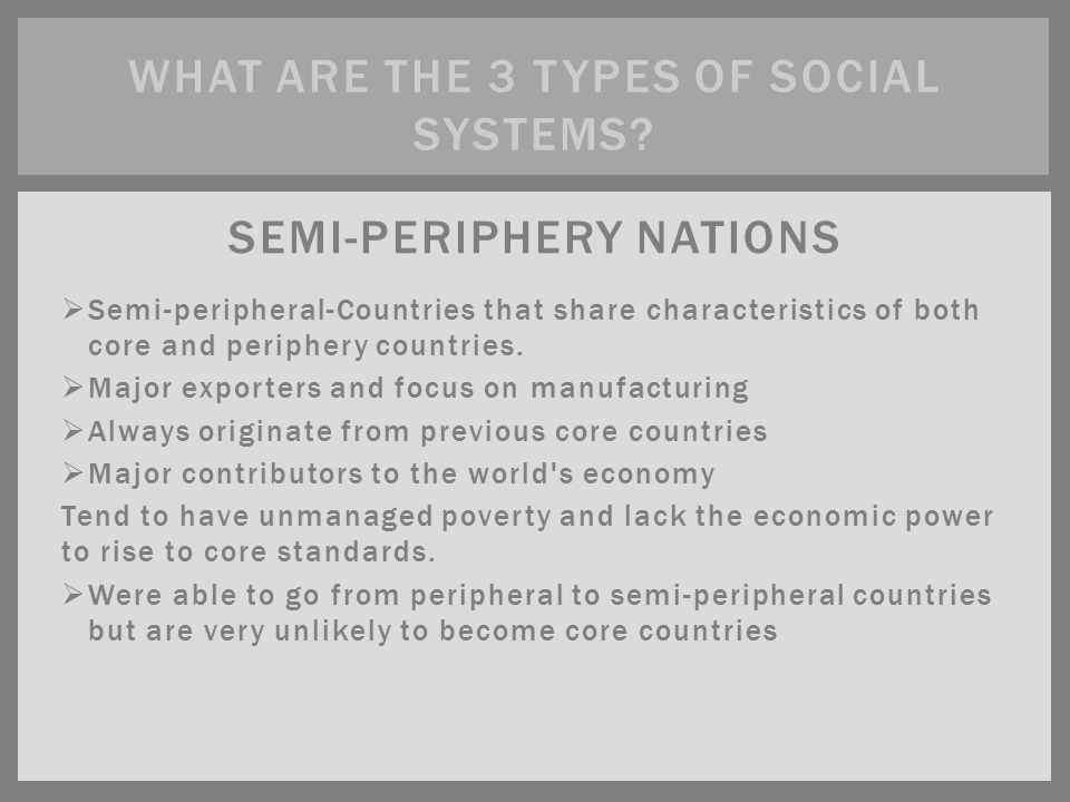what is semi periphery