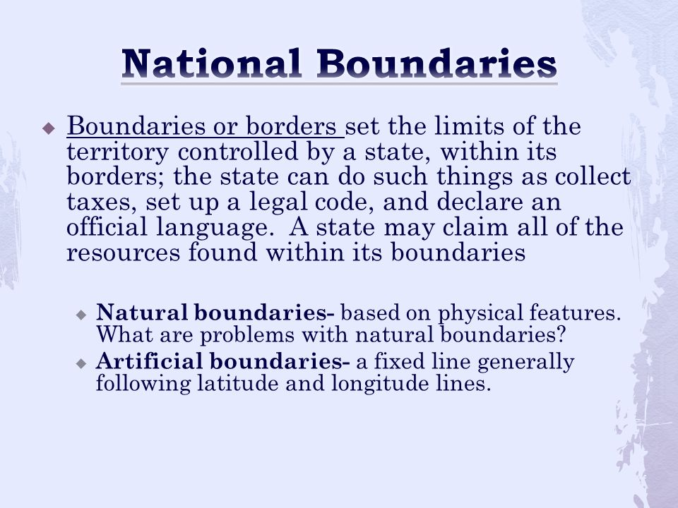 National Boundaries