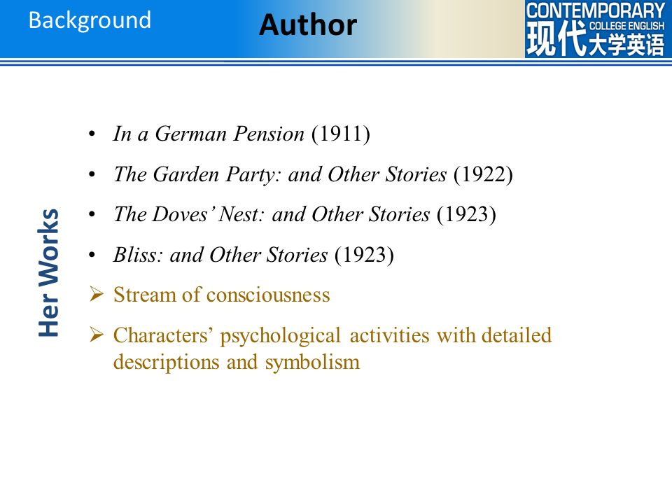 A Dill Pickle Katherine Mansfield Ppt Video Online Download