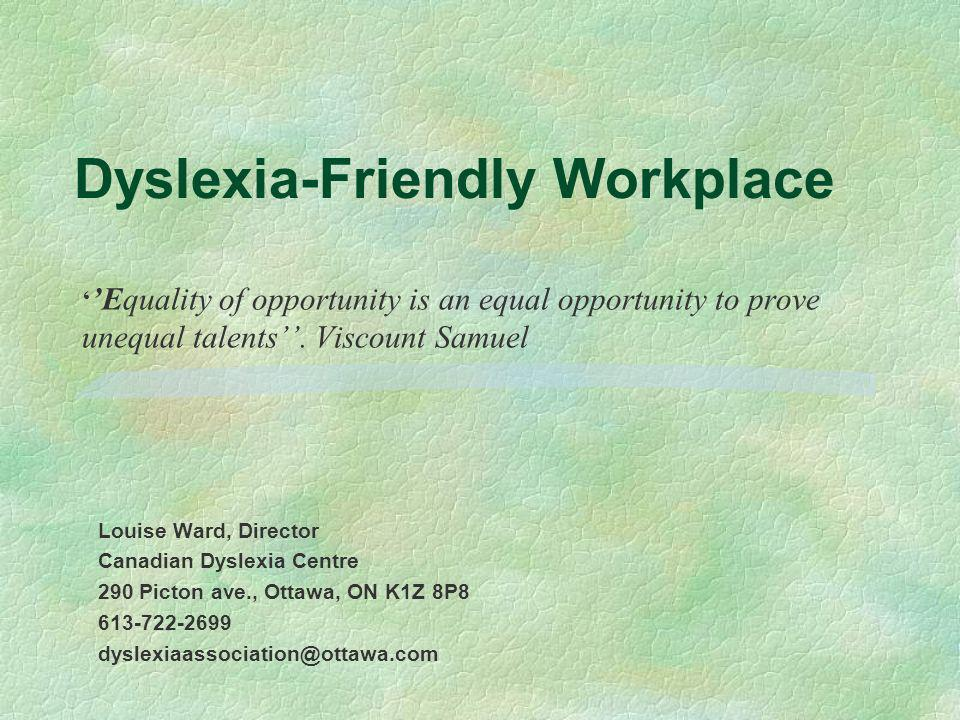 Dyslexia-Friendly Workplace