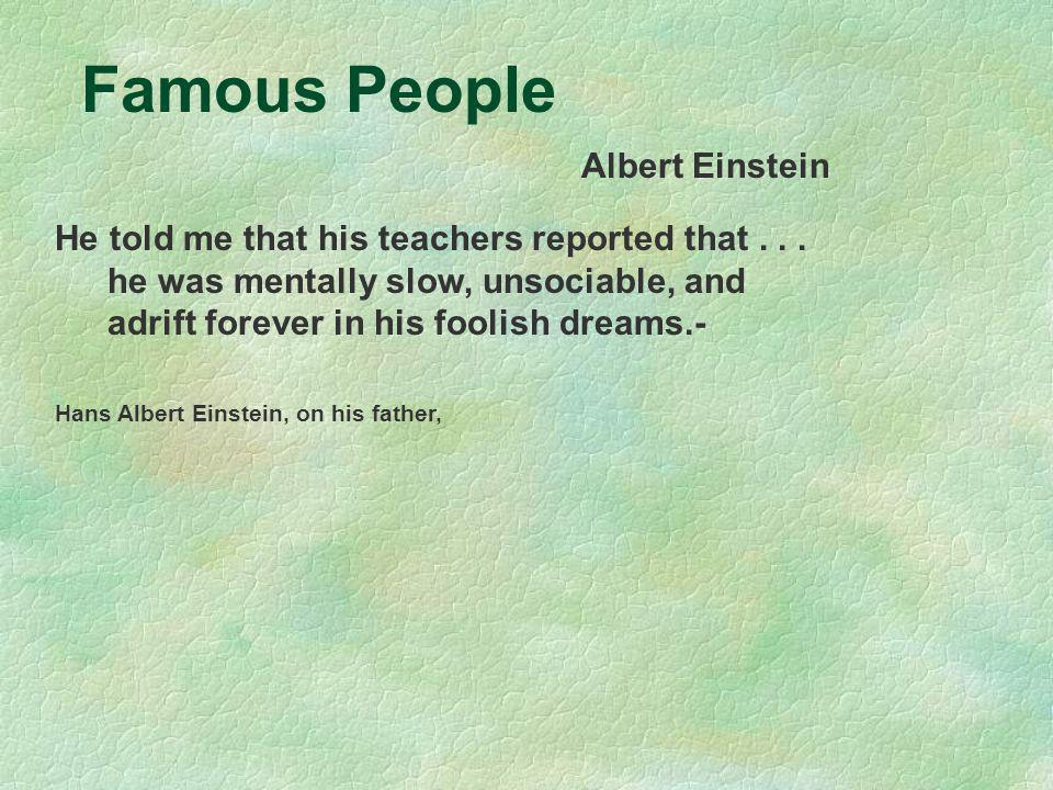 Famous People Albert Einstein