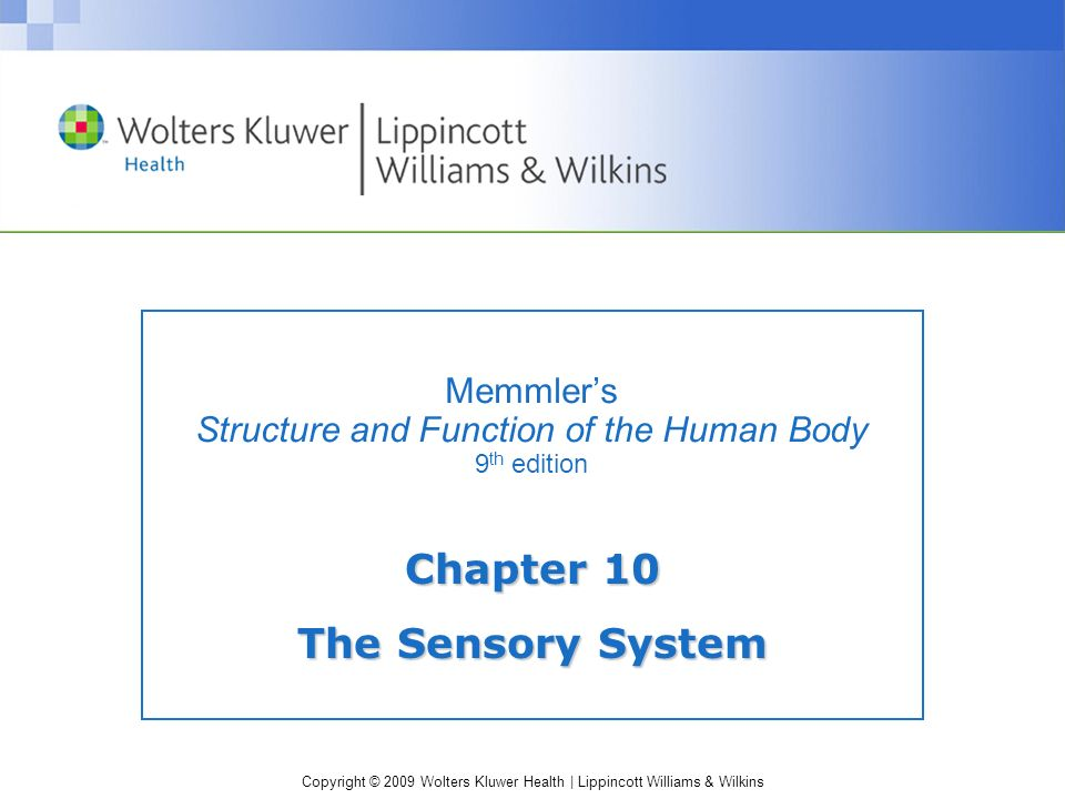 Memmler's Structure and Function of the Human Body 9th edition