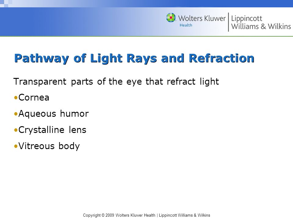 Pathway of Light Rays and Refraction