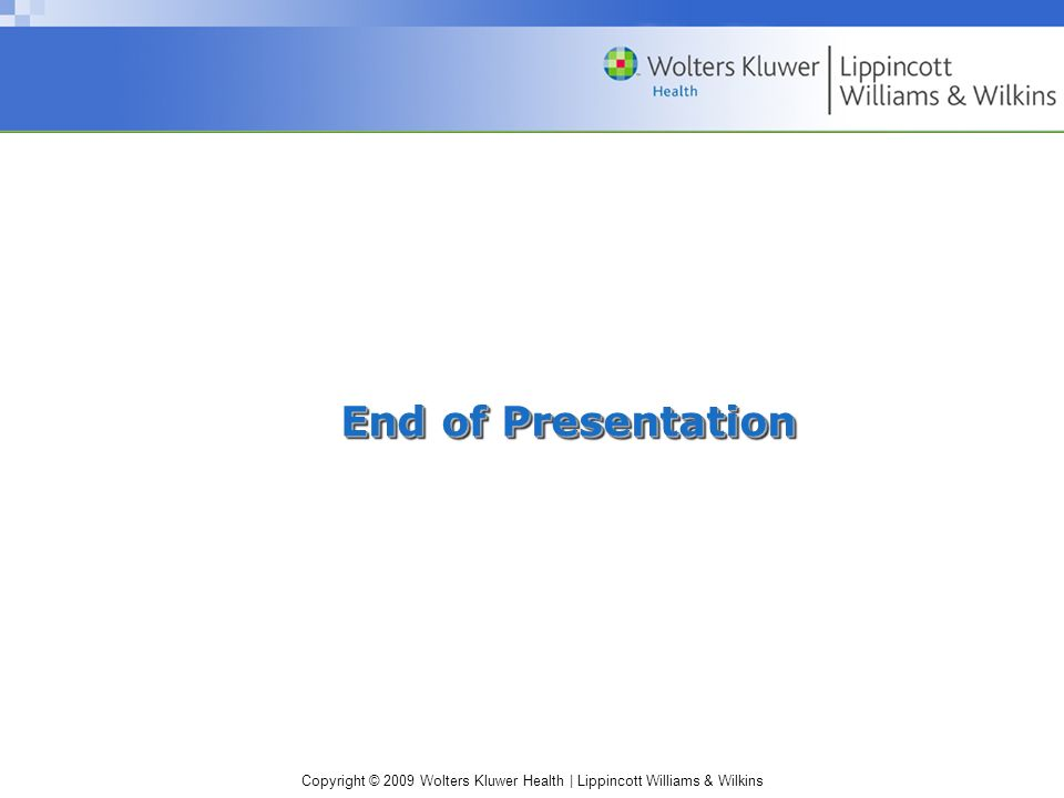 End of Presentation