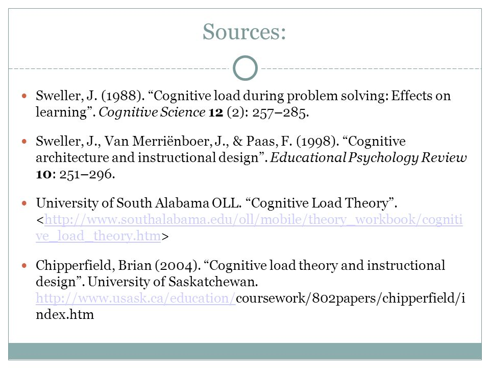 The Cognitive Load Theory Ppt Video Online Download