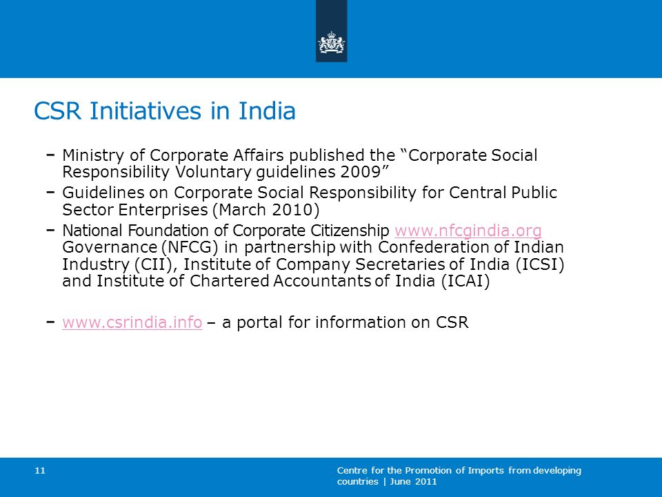 CSR Initiatives in India