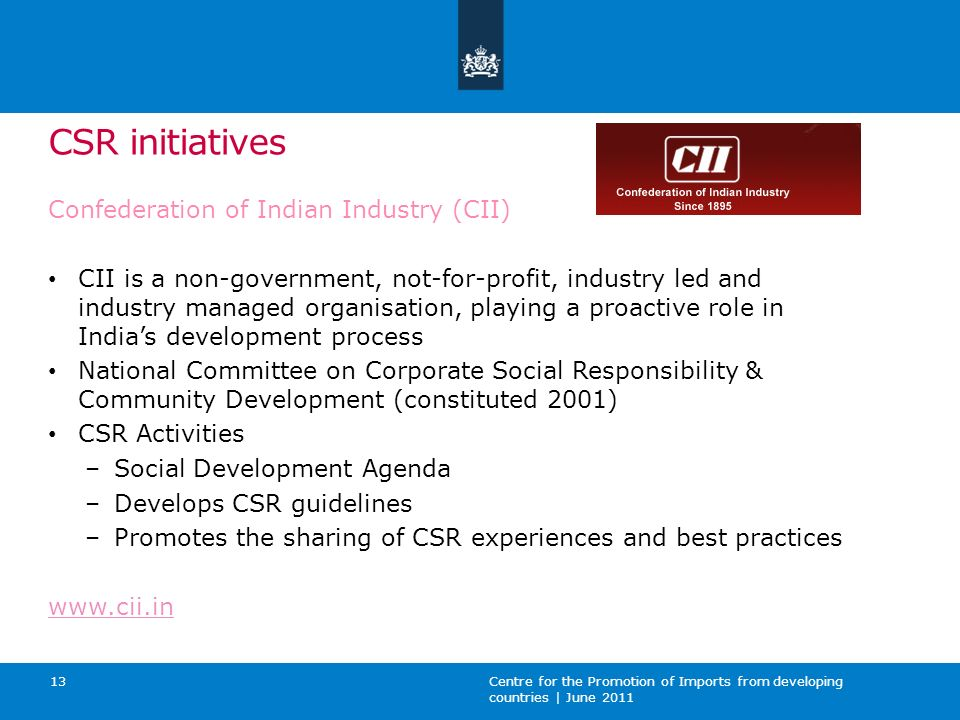 CSR initiatives Confederation of Indian Industry (CII)