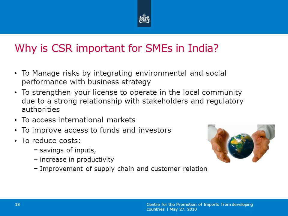 Why is CSR important for SMEs in India