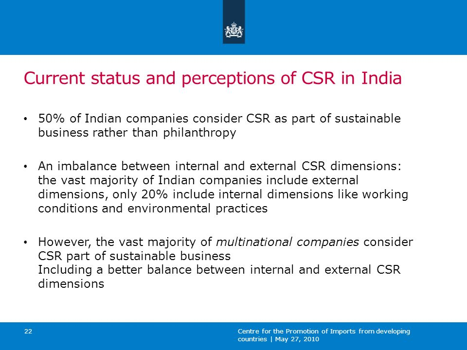Ppt on csr in india.