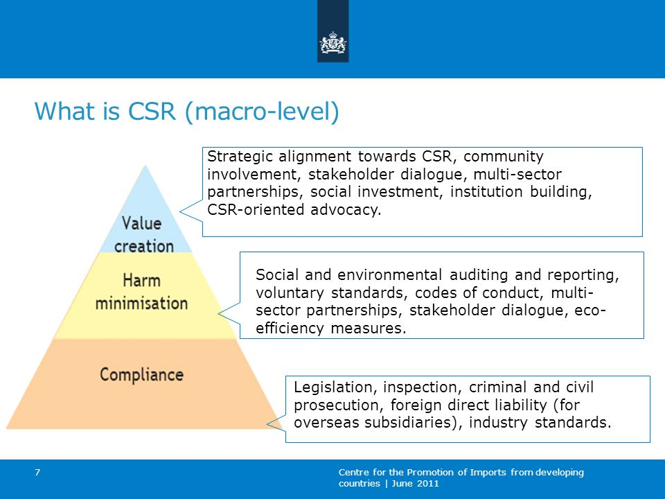 What is CSR (macro-level)