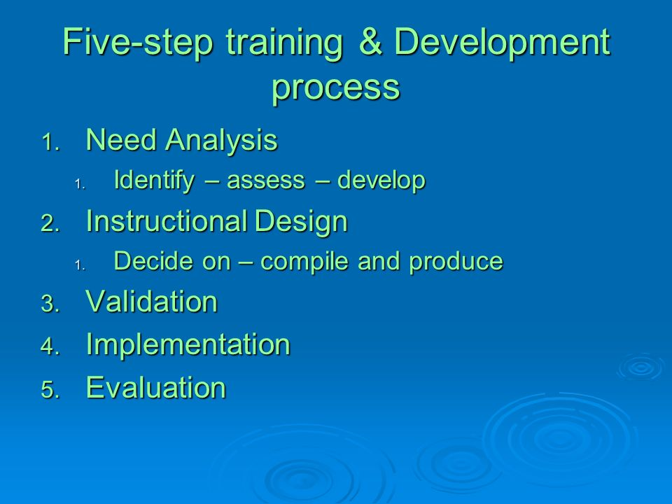 Five-step training & Development process