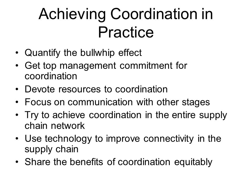 Achieving Coordination in Practice
