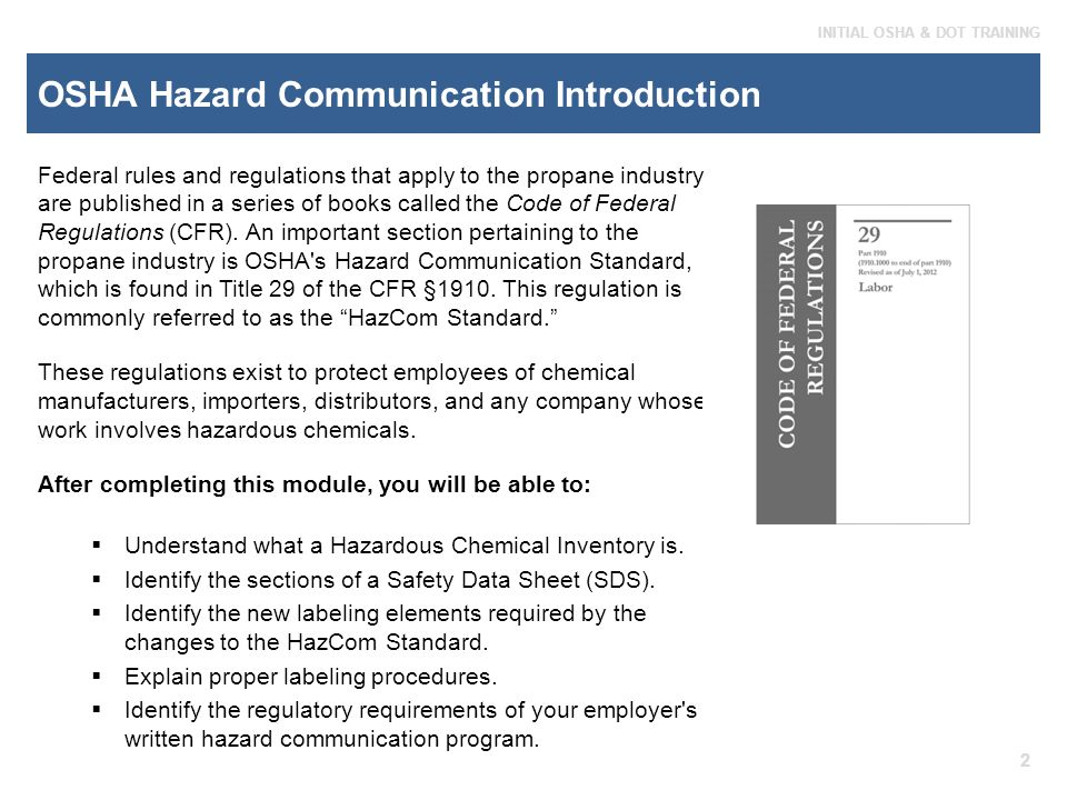 OSHA Hazard Communication - ppt download
