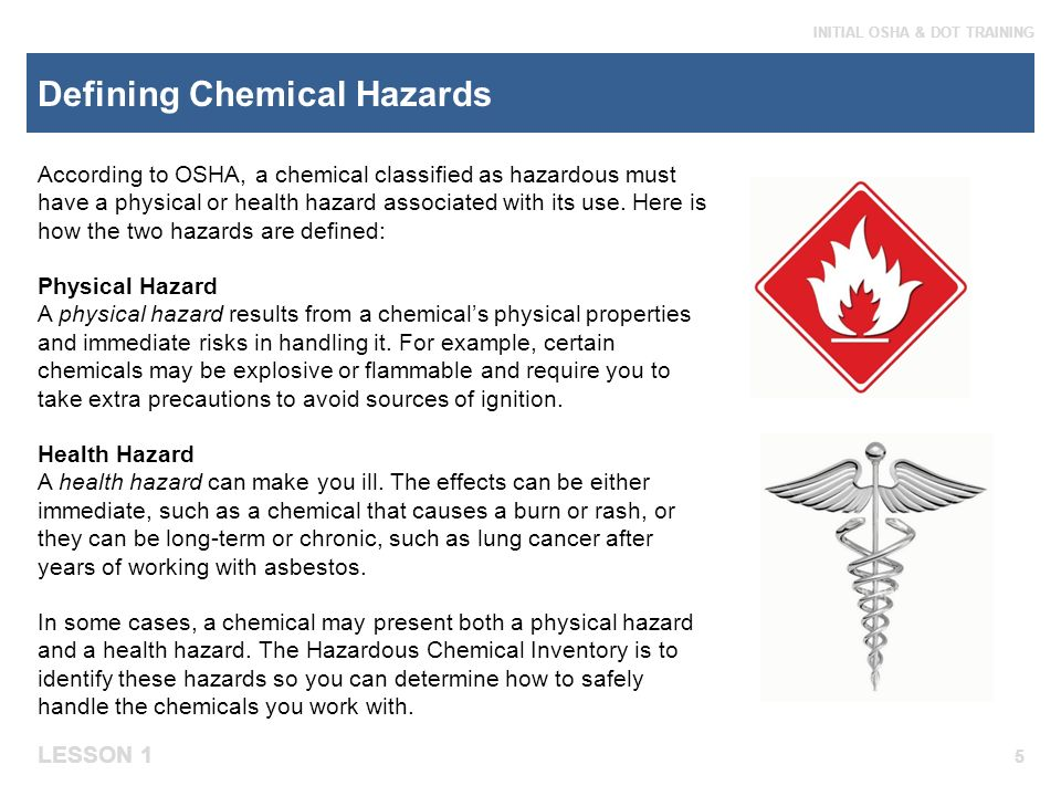 health and safety processes at work chemical hazards In conclusion, the hazards described above are only a few of the hazards that can be present in chemical processes, and it is important that steps are being taken to mitigate these hazards at every stage of the design process, be it through fmea, fta, hazop, or other safety analyses.