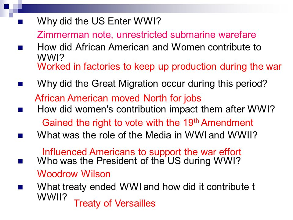 what made us enter ww1