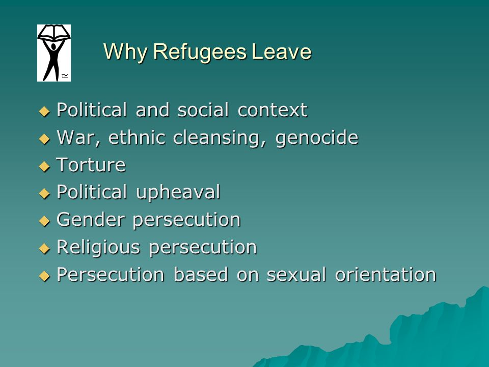 Why Refugees Leave Political and social context
