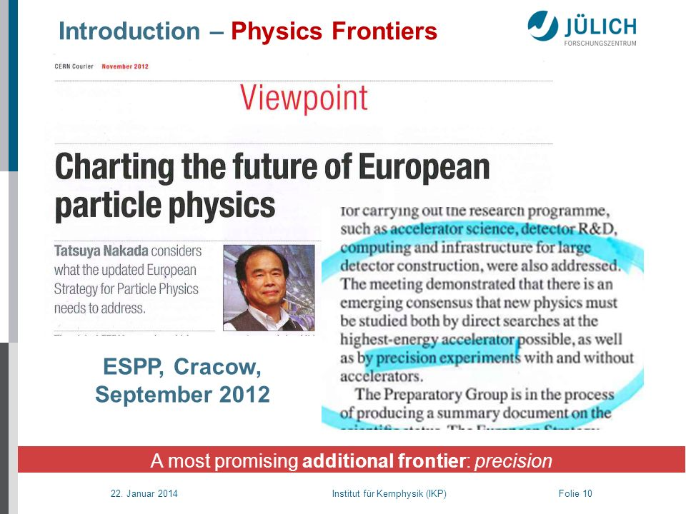 Introduction – Physics Frontiers