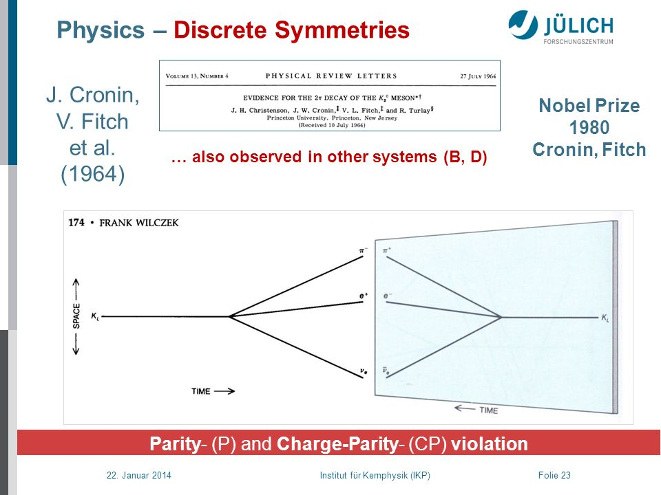 Physics – Discrete Symmetries