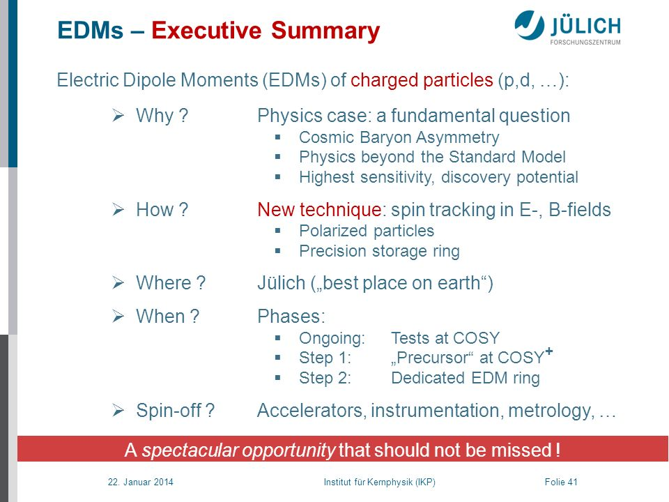 EDMs – Executive Summary