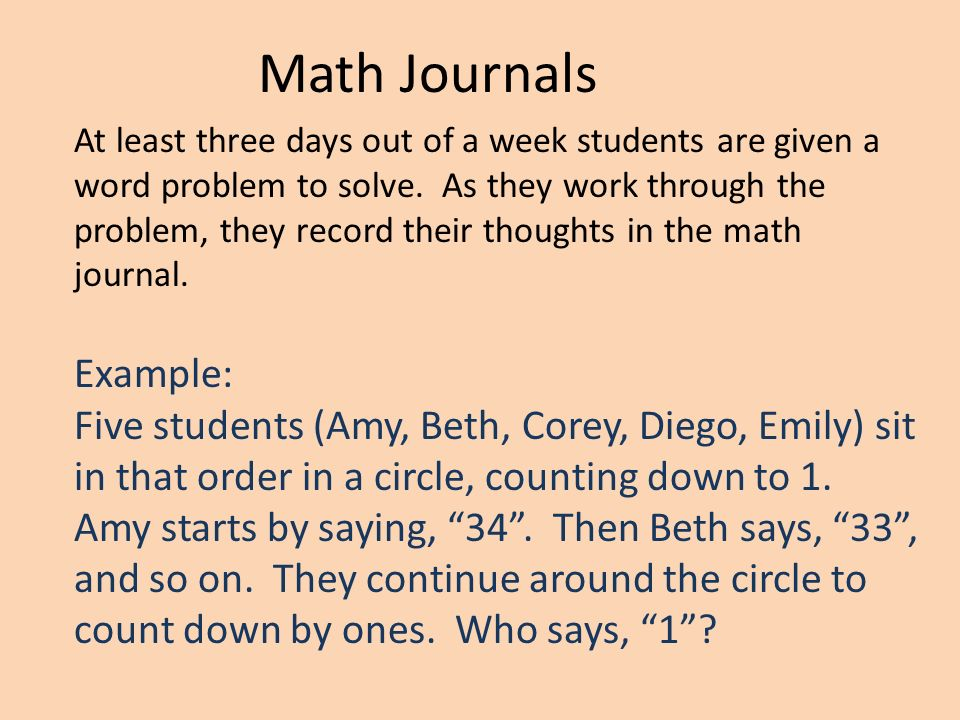 Example of journal in math.