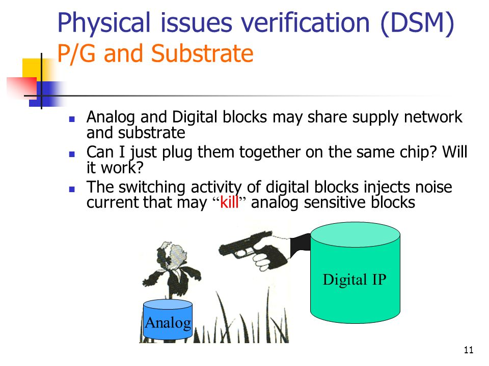 Physical issues verification (DSM) P/G and Substrate