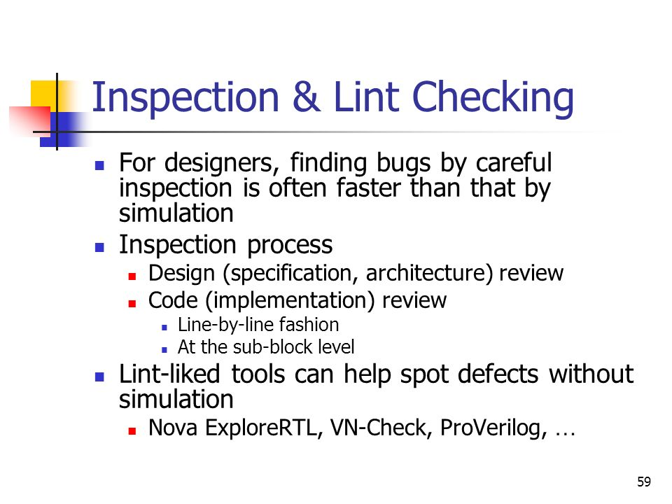 Inspection & Lint Checking