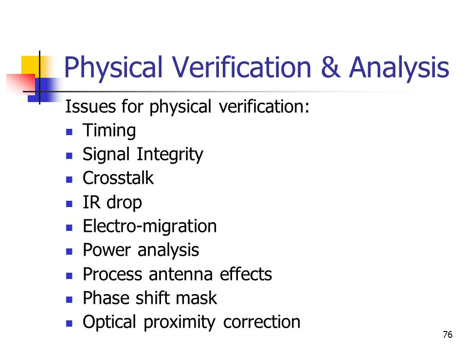 Physical Verification & Analysis