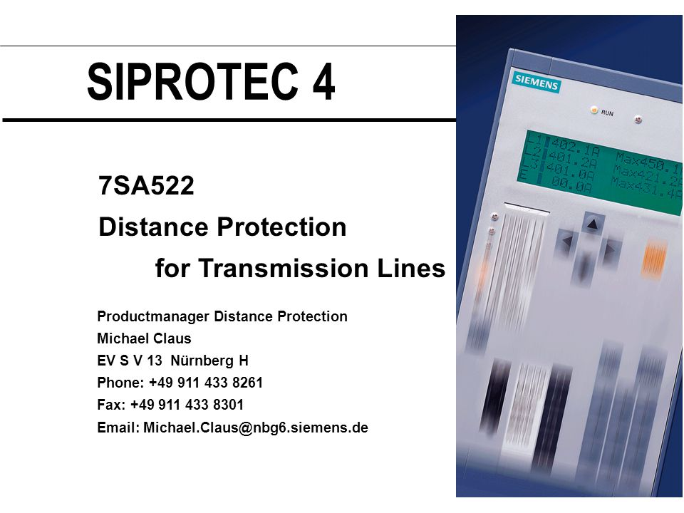 siprotec 4 7sa522 distance protection for transmission lines pptsiprotec 4 7sa522 distance protection for transmission lines