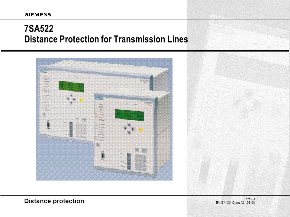 siprotec 4 7sa522 distance protection for transmission lines ppt3 7sa522 distance protection for transmission lines