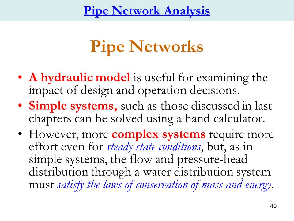 Chapter 3 Water Distribution Systems Networks Ppt Video Online Download