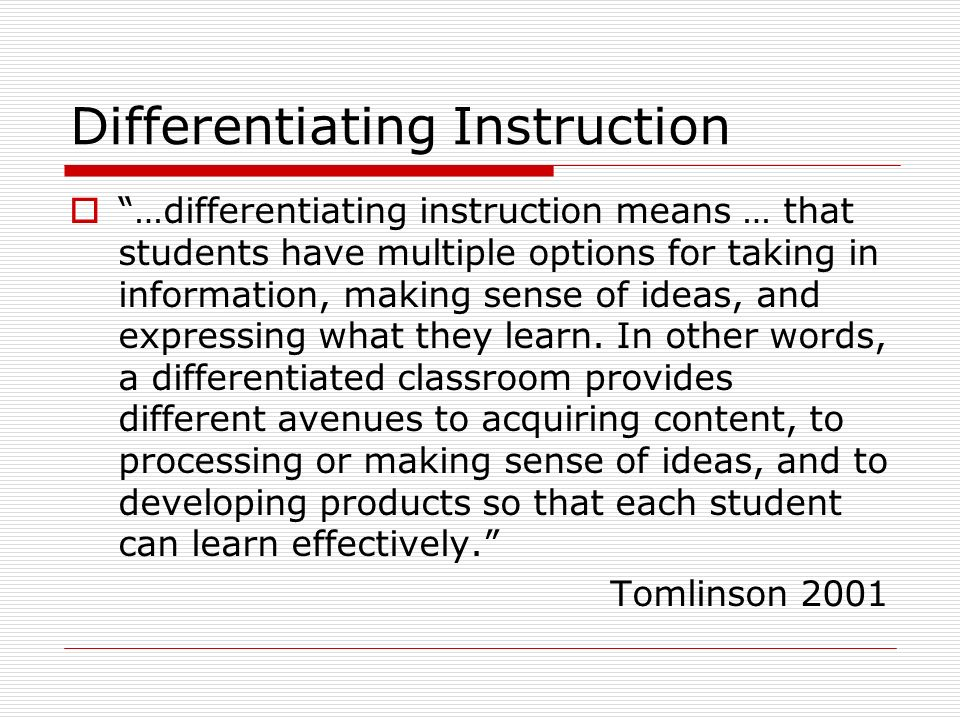 Differentiated Instruction Words Today Manual Guide Trends Sample