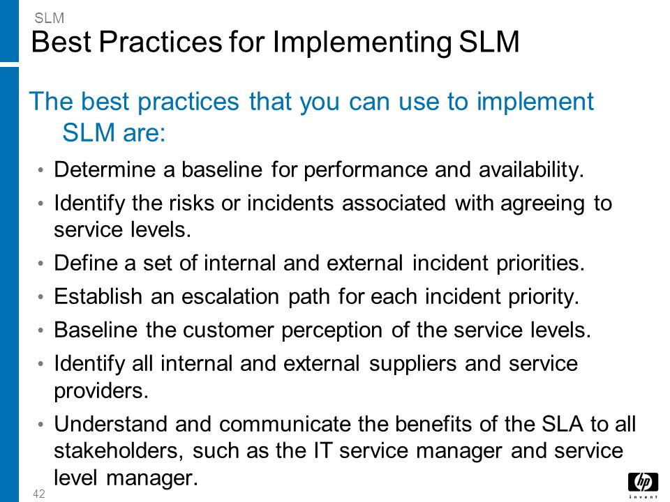 Best Practices for Implementing SLM