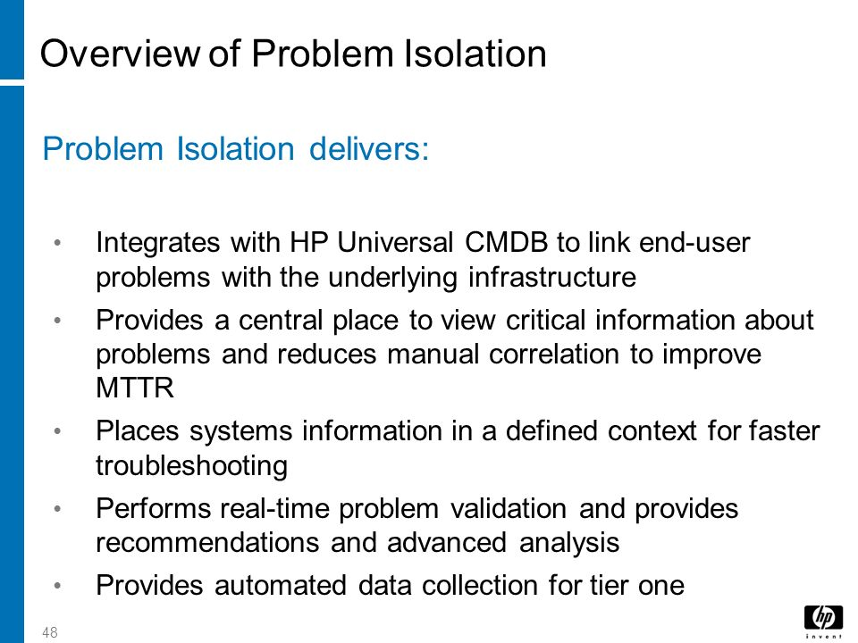 Overview of Problem Isolation