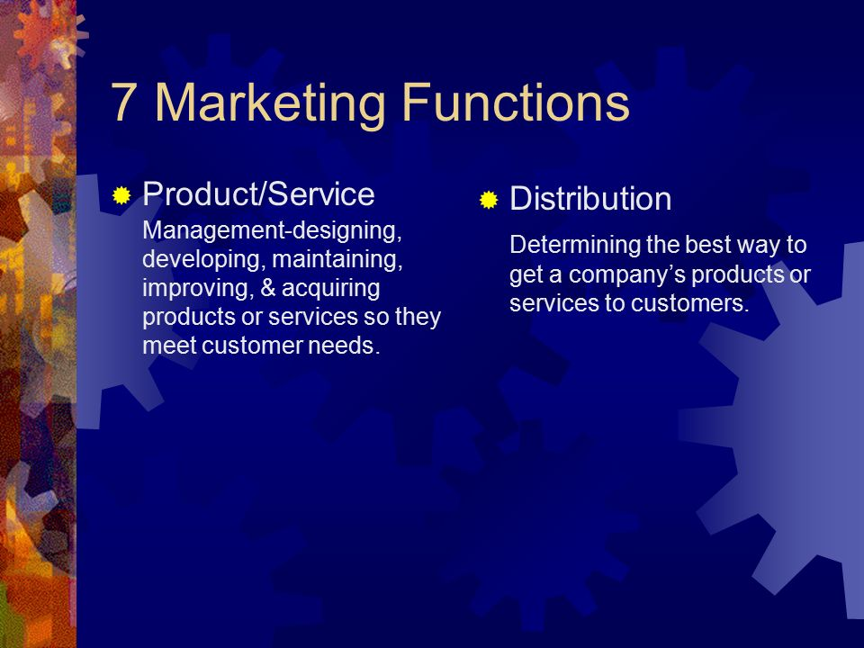 7 Marketing Functions