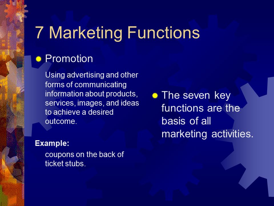 7 Marketing Functions Promotion