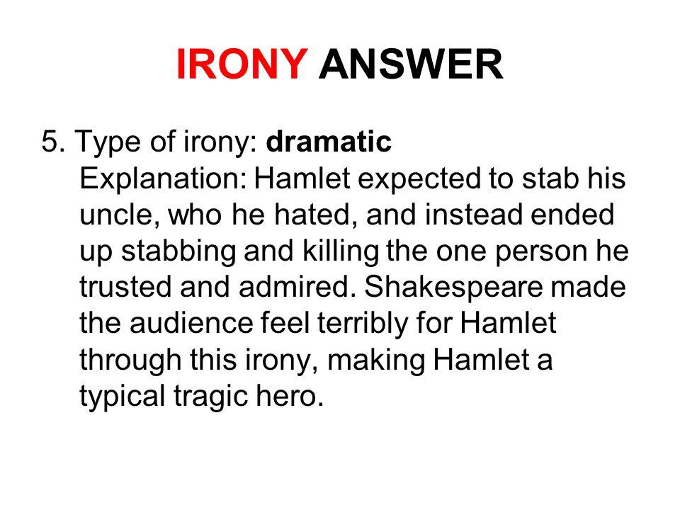 verbal irony in hamlet