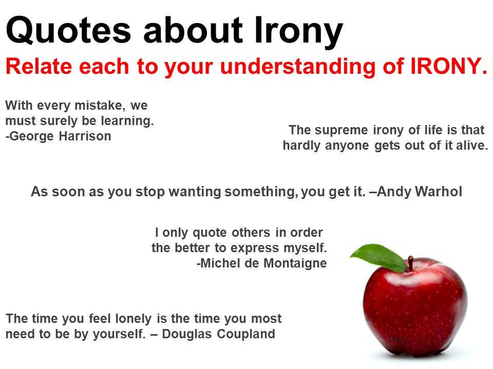 Irony 3 Kinds Of Irony Ppt Download