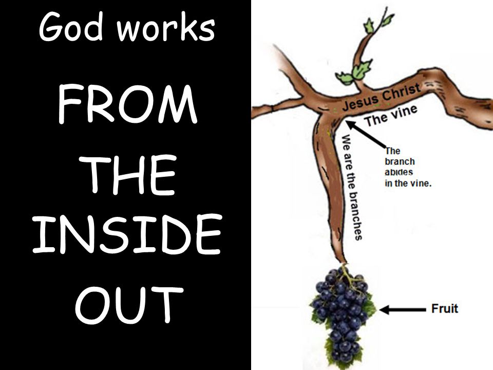 God works FROM THE INSIDE OUT