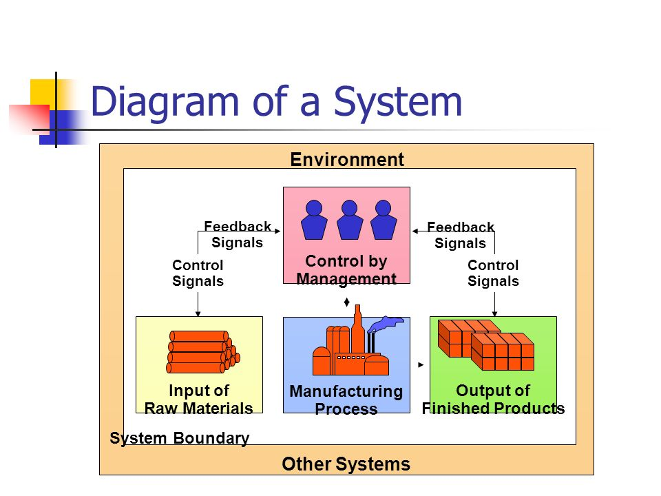 Diagram of a System Environment Other Systems Manufacturing Process