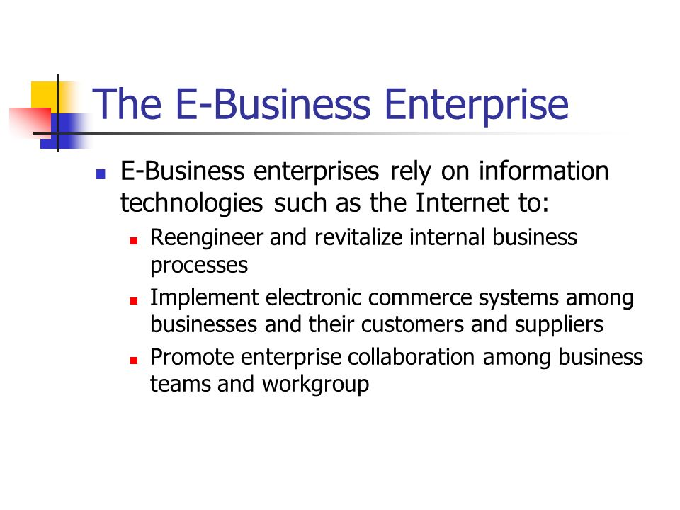 The E-Business Enterprise