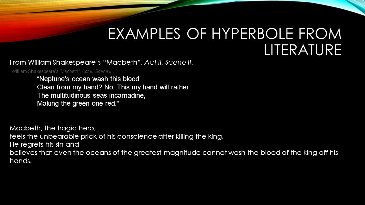 Hyperbole From Literary Devices Definition And Examples Of Literary
