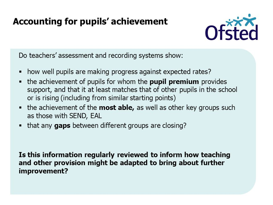 Accounting for pupils' achievement