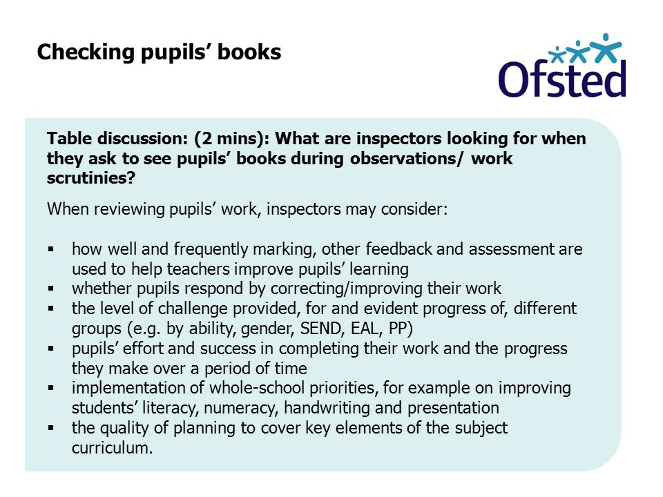 Checking pupils' books