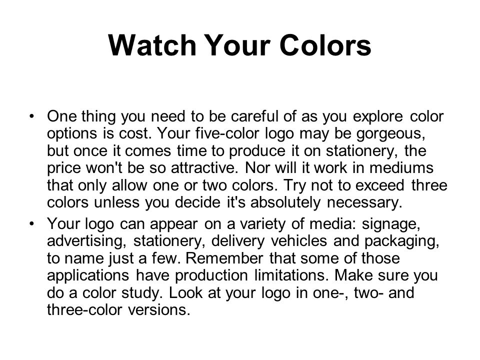 Watch Your Colors