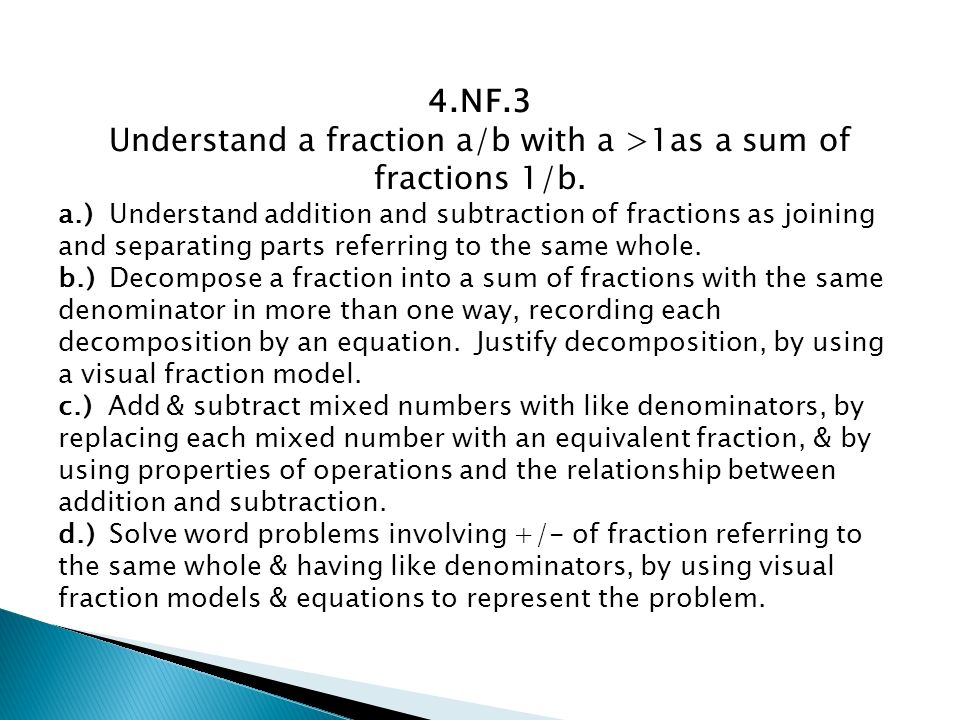 how to find sum of a fraction